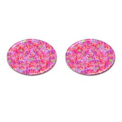 The Big Pink Party Cufflinks (oval) by designworld65