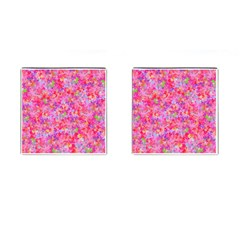 The Big Pink Party Cufflinks (square) by designworld65