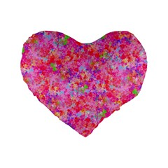 The Big Pink Party Standard 16  Premium Heart Shape Cushions by designworld65