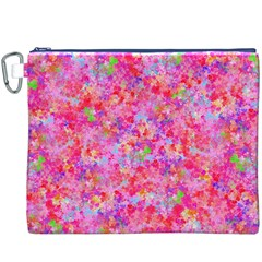 The Big Pink Party Canvas Cosmetic Bag (xxxl) by designworld65
