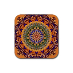 Powerful Mandala Rubber Square Coaster (4 Pack)  by designworld65