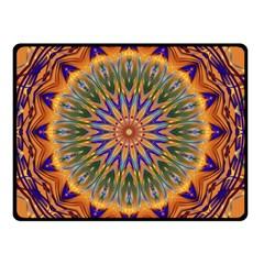 Powerful Mandala Double Sided Fleece Blanket (small)  by designworld65