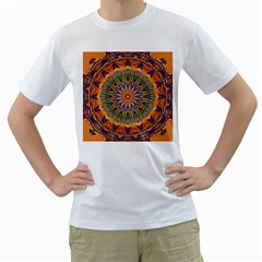 Powerful Mandala Men s T Shirt (white)  by designworld65