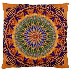 Powerful Mandala Standard Flano Cushion Case (one Side) by designworld65