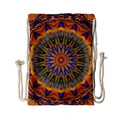 Powerful Mandala Drawstring Bag (small) by designworld65
