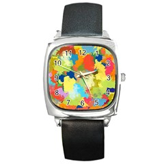 Summer Feeling Splash Square Metal Watch by designworld65