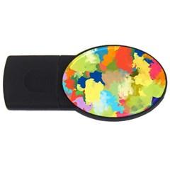 Summer Feeling Splash Usb Flash Drive Oval (4 Gb) by designworld65