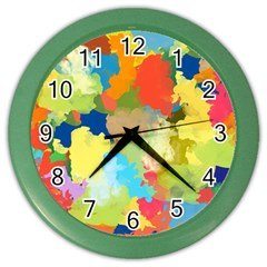 Summer Feeling Splash Color Wall Clocks by designworld65
