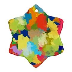 Summer Feeling Splash Snowflake Ornament (two Sides) by designworld65