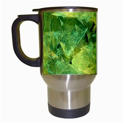 Green Springtime Leafs Travel Mugs (white) by designworld65