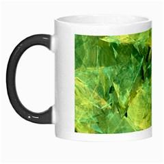 Green Springtime Leafs Morph Mugs by designworld65
