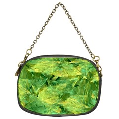 Green Springtime Leafs Chain Purses (two Sides)  by designworld65