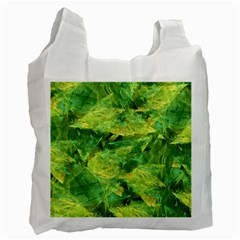 Green Springtime Leafs Recycle Bag (one Side) by designworld65