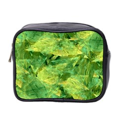 Green Springtime Leafs Mini Toiletries Bag 2 Side by designworld65