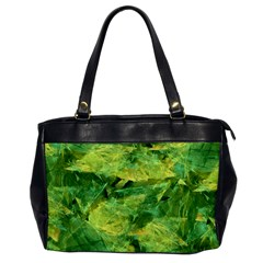 Green Springtime Leafs Office Handbags by designworld65