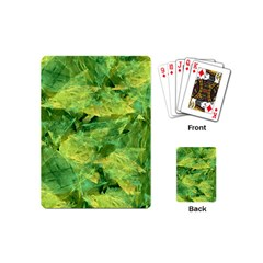 Green Springtime Leafs Playing Cards (mini)  by designworld65
