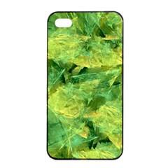 Green Springtime Leafs Apple Iphone 4/4s Seamless Case (black) by designworld65