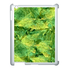 Green Springtime Leafs Apple Ipad 3/4 Case (white) by designworld65