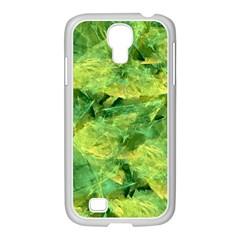 Green Springtime Leafs Samsung Galaxy S4 I9500/ I9505 Case (white) by designworld65
