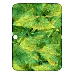 Green Springtime Leafs Samsung Galaxy Tab 3 (10 1 ) P5200 Hardshell Case  by designworld65