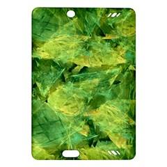 Green Springtime Leafs Amazon Kindle Fire Hd (2013) Hardshell Case by designworld65