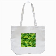 Green Springtime Leafs Tote Bag (white) by designworld65
