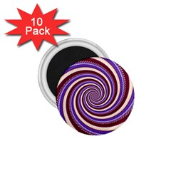 Woven Spiral 1 75  Magnets (10 Pack)  by designworld65