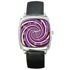 Woven Spiral Square Metal Watch by designworld65
