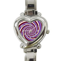 Woven Spiral Heart Italian Charm Watch by designworld65