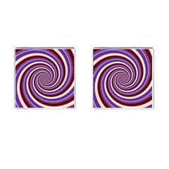 Woven Spiral Cufflinks (square) by designworld65