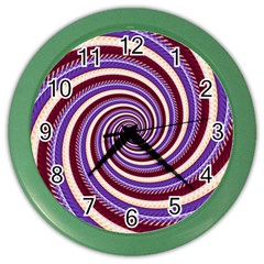 Woven Spiral Color Wall Clocks by designworld65