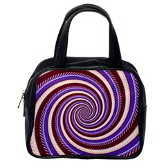 Woven Spiral Classic Handbags (one Side) by designworld65