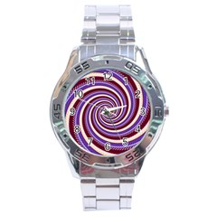 Woven Spiral Stainless Steel Analogue Watch by designworld65