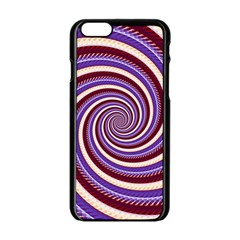 Woven Spiral Apple Iphone 6/6s Black Enamel Case by designworld65