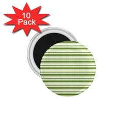 Spring Stripes 1 75  Magnets (10 Pack)  by designworld65