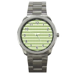 Spring Stripes Sport Metal Watch by designworld65