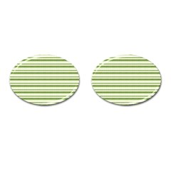 Spring Stripes Cufflinks (oval) by designworld65