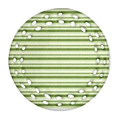 Spring Stripes Ornament (round Filigree) by designworld65