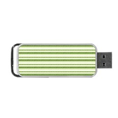 Spring Stripes Portable Usb Flash (two Sides) by designworld65