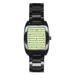 Spring Stripes Stainless Steel Barrel Watch by designworld65