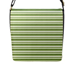 Spring Stripes Flap Messenger Bag (l)  by designworld65