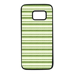 Spring Stripes Samsung Galaxy S7 Black Seamless Case by designworld65