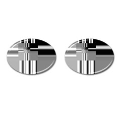 Black And White Endless Window Cufflinks (oval) by designworld65