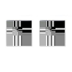 Black And White Endless Window Cufflinks (square) by designworld65