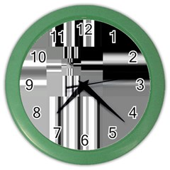Black And White Endless Window Color Wall Clocks by designworld65
