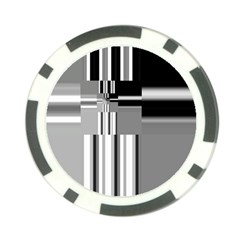 Black And White Endless Window Poker Chip Card Guard (10 Pack) by designworld65