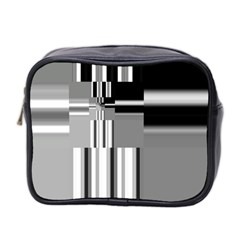 Black And White Endless Window Mini Toiletries Bag 2 Side by designworld65