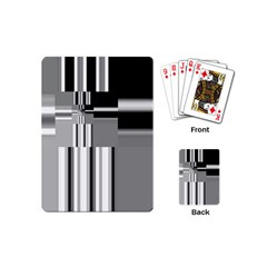 Black And White Endless Window Playing Cards (mini)  by designworld65
