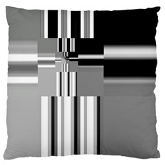 Black And White Endless Window Large Cushion Case (two Sides) by designworld65
