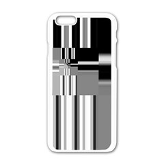 Black And White Endless Window Apple Iphone 6/6s White Enamel Case by designworld65